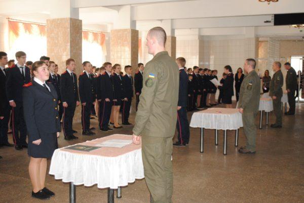 Александрийские лицеисты приняли кадетскую присягу