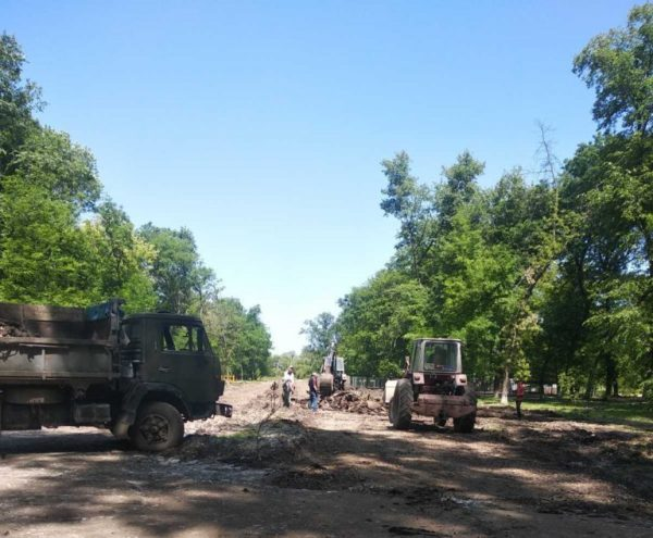 ФК «Александрия» реконструирует парк Шевченко