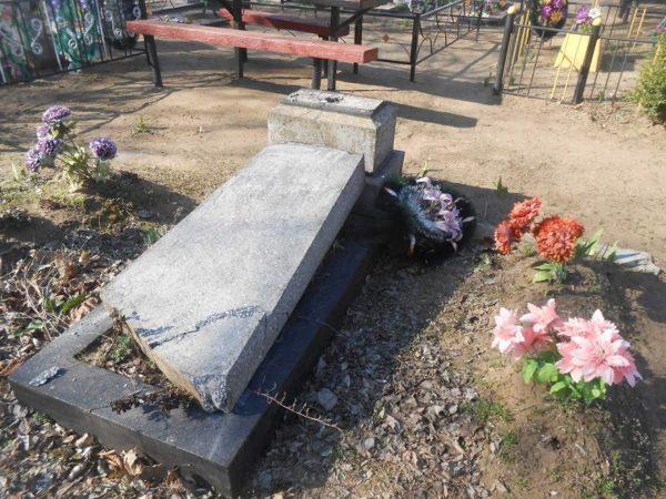 Жителю Александрийского района, который разрушал памятники на кладбище, дали условный срок