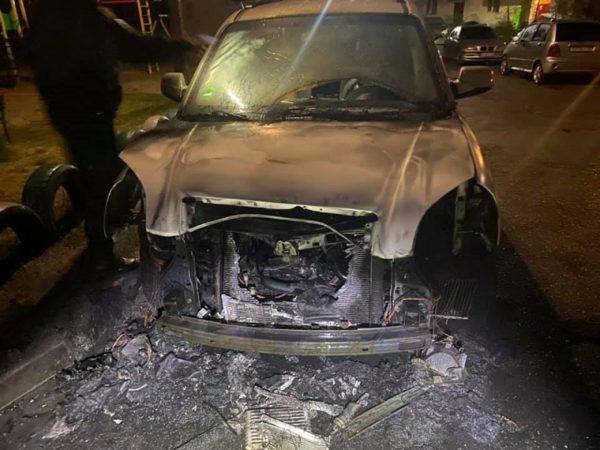 Сегодня ночью горела машина жены депутата Александрийского районного совета (ФОТО)