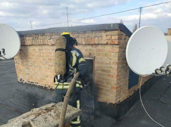 В одной из многоэтажек Александрии горела крыша