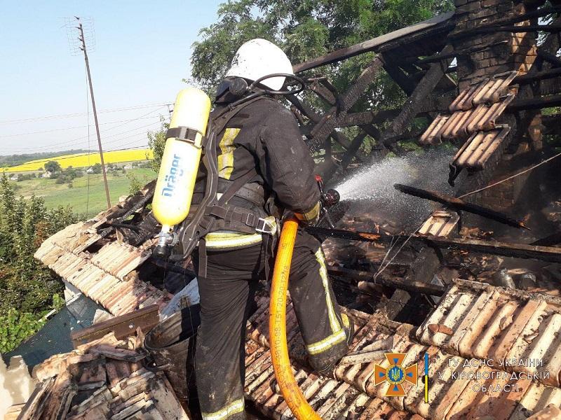 В Александрии горело 200 квадратных метров сухой травы, в районе – крыша жилого дома (ФОТО)