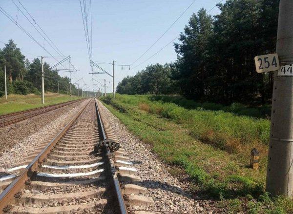 В Кировоградской области неизвестные остановили шинами электричку и разбили стекло в дверях вагона (ФОТО)
