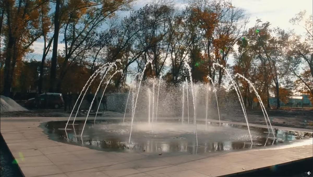 В Александрии в парке Шевченко заработал новый фонтан